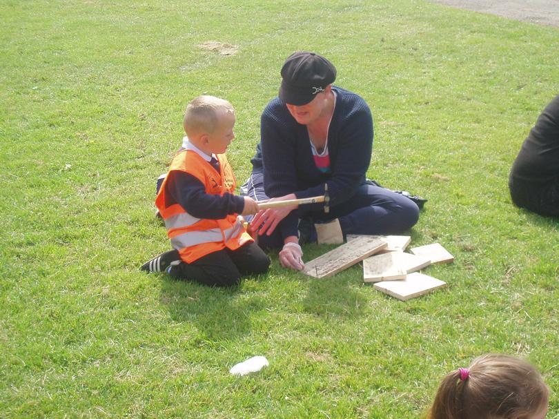 Building a bird box with Nana Gore!