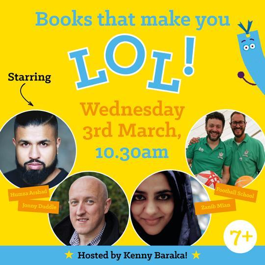 Wednesday 3rd March, 10.30am – Books that Make you LOL!