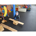 Here is a seesaw we made.
