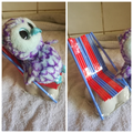 Zachary cleverly used straws for his owl's chair.
