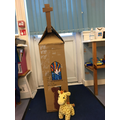 The year 2 children decided to make a jolly tall church!