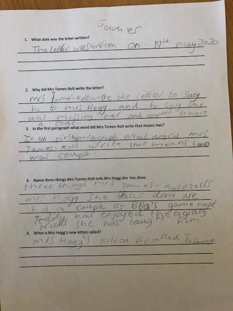 James'  comprehension page 1