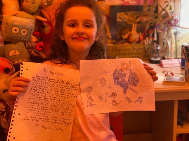 Mathilda marvellous story and illustration.