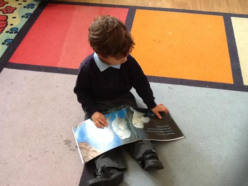 Enjoying reading Owl Babies.