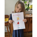 Djuna made a picture for the Queen!