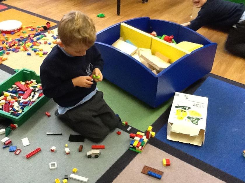 Making a model of a crocodile.