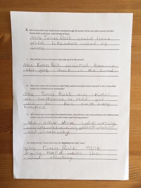 Lola's comprehension page 2
