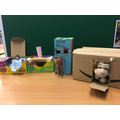 Houses made at school by Lauren, Daisy and Tom.