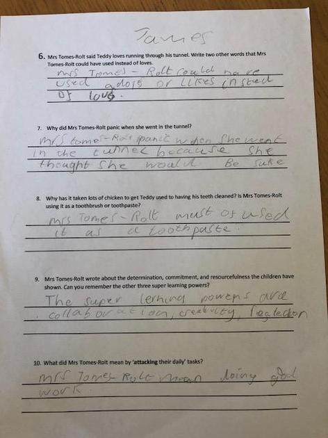 James'  comprehension page 2
