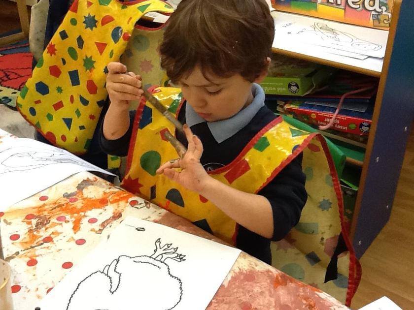Finger painting!