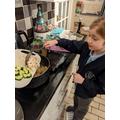 Amber's cooking challenge