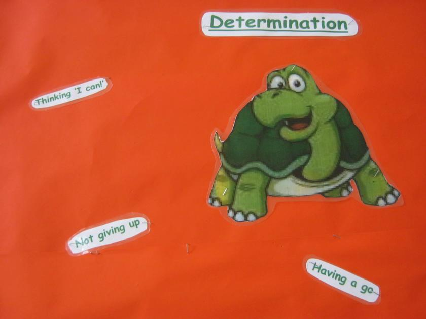 The Hare and the Tortoise shows 'Determination'.