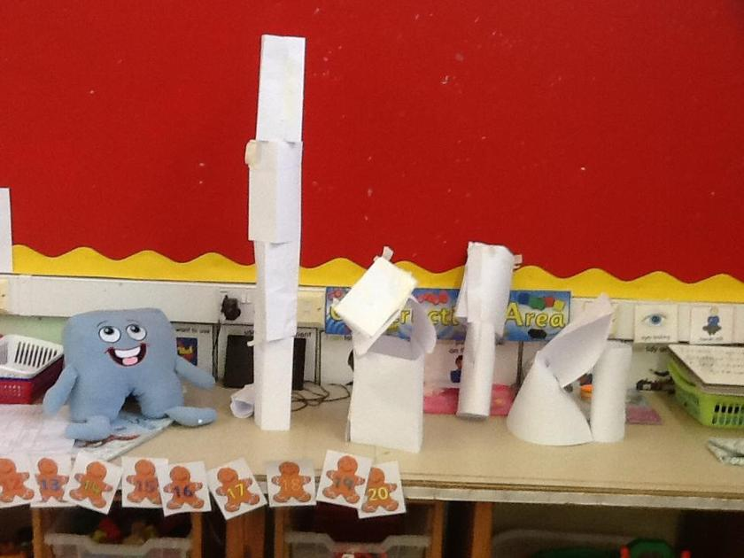 We worked together to build the tallest tower!