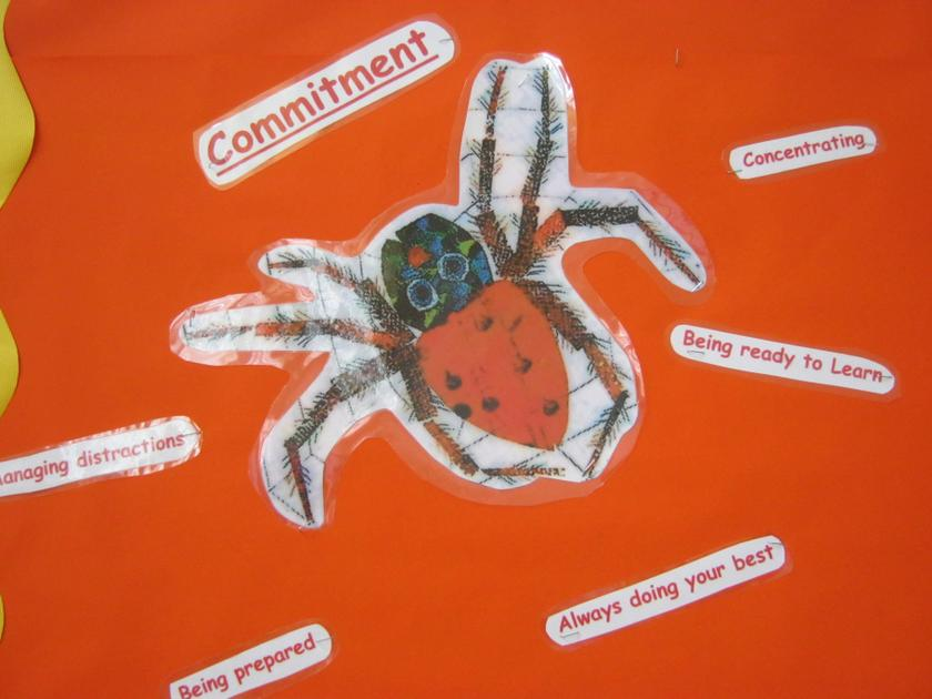 The Very Busy Spider demonstrated 'Commitment'.