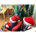 Santa and his elf go on a journey on their sleigh.