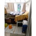 Jasper and his brother built a den!