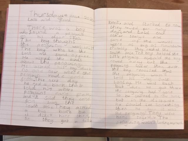 Lola's lovely literacy.