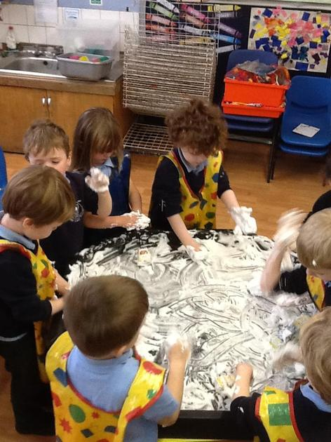 Enjoying sensory play