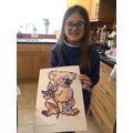 Heidi's koala dot art