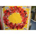 Children made poppies