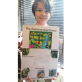 Zachary with his poster
