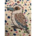 Max R's kookaburra dot art