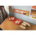 We made salt dough rolls for the bakery