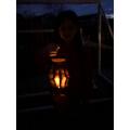 Heidi's glowing lantern