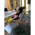 Thomas used K'Nex for Mickey.