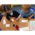 Writing with Little Red Hen's feathers