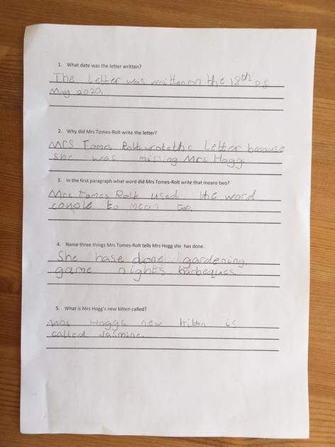 Lola's comprehension page 1