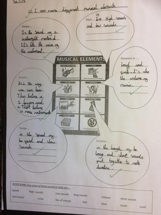 Year 4 Music Book - 'Dimensions of Music'