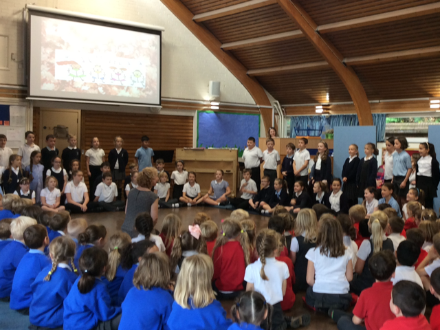 Year 5 performing at the Year 2 Music Festival