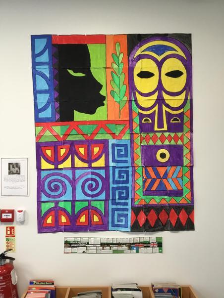 Year 5 & Hawthorn class' collaborative mural