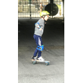 Ioan has been learning to skateboard- well done.