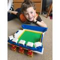 Sam has made an impressive NFL stadium with lego.