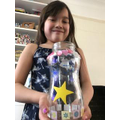 Ivy has made an decorated a very special wish jar.