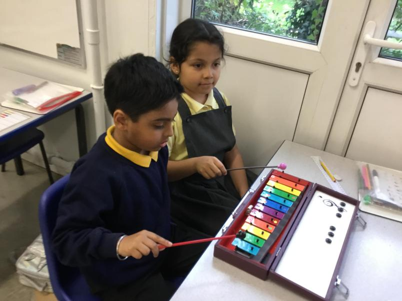 Music: Learning to play the Glockenspiel