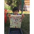 Noah has done some superb marbling.