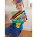 Adam has enjoyed his art project.