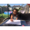 Violeta has been working very hard at home- fantastic!