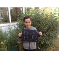 Blake carefully made a beautiful bubble picture!
