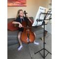 Jess has been practising her cello- amazing!