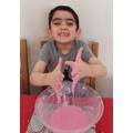 Ryan has been making slime!