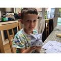 Ben has made a maths chatterbox.
