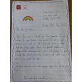 Charlotte's lovely letter she sent to a care home.