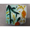 2-D Relief Clay Tile - Rhyse