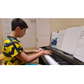 Luca has been practising the piano- well done!