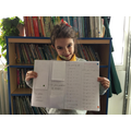 Luiza showed great stamina and determination to master fractions this week. Well done!