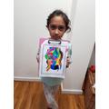 Hanisha has created a fantastic piece of art.